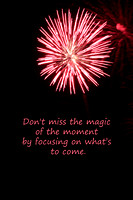 Red Fireworks - Don't miss the magic...