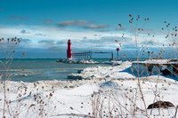 Algoma Lighthouse in Snow