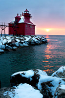 Sturgeon Bay Lighthouse at Sunrise - vertical