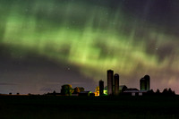 Northern Lights Above the farm